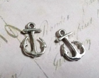 Anchor Charms Anchor Pendants Fishing Charms Fisherman Charms Silver Anchor Charms SAMPLE