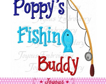 Instant Download Poppy's Fishing Buddy Applique Embroidery Design NO:1760