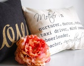 Mothers Day Gift, Grain sack style pillow, no insert needed, gift for mom, Mother's Day Sale, gift for mom's birthday, gift from children
