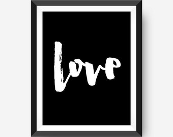 motivational wall print art print home office art print - love