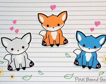 Chibi Fox Stickers and Magnets