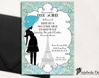 Paris Bebe Soiree Theme Baby Shower Invitation  (Design Fee)