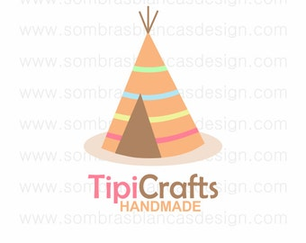 OOAK Premade Logo Design - Tipi Crafts - Perfect for a handmade toys shop or an educational blog