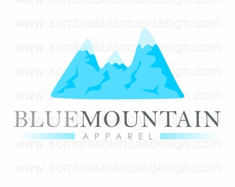 OOAK Premade Logo Design - Blue Mountain - Perfect for a hiking apparel shop or a nature tours business
