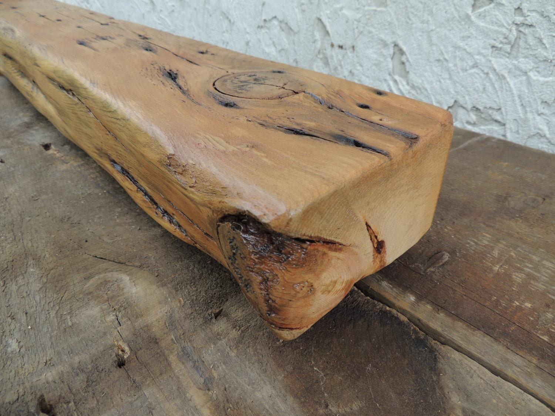 Rustic Reclaimed Elm Wood Mantel Shelf Or Fireplace By Harvestbilt