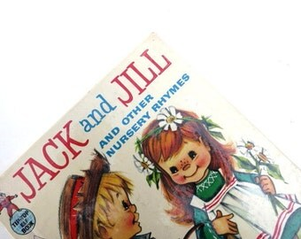 Two Childrens Vintage Books / Jack and Jill / Young Readers / Book Decor / Book Bundle
