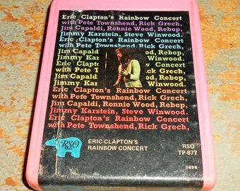 "Eric Clapton, 8 Track Tape, ""Rainbow Concert"", 8 Track Tape Cartridge, Stereo Tape Cartridge, 8 Track, Eight Track"