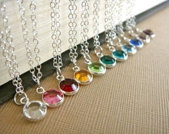 necklace-Birthstone necklace gift necklace