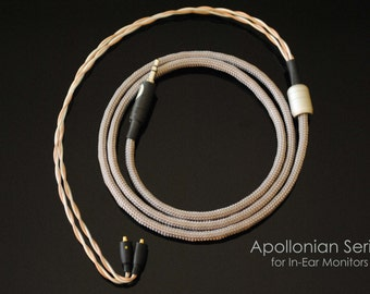 plusSound Apollonian Series Custom Cable for Ultimate Ears, JH Audio, Shure, Sennheiser, Westone, Customs In-Ear Monitors