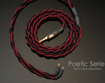 plusSound Poetic Series Custom Cable for Ultimate Ears, JH Audio, Shure, Sennheiser, Westone, Customs In-Ear Monitors