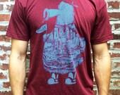 FREE SHIPPING - Philadelphia Phanatic  -- Paul Carpenter Art -- Unisex Philly Artist Print Tee Shirt