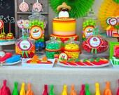 Tissue Paper FiestaTassel Garland - Fiesta//Mexico//Parties Decor//Backdrod
