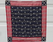 Vintage Flag Scarf Patriotic Design In Silk With Stars And Stripes Made By Echo Happy 4th