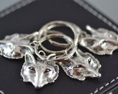 4 wolf keyrings, key rings, key chains,  Wolves, Best Friends, Sister, Family