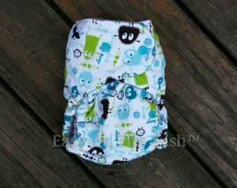 Turquoise Ooga Booga All In One (AIO), All In Two (AI2) Cloth Diaper or Pocket