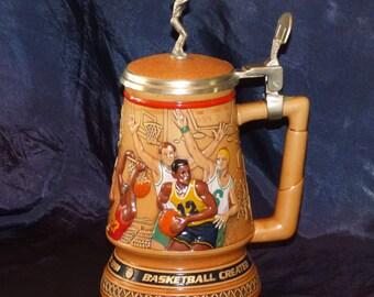 "1993 Avon ""A Century Of Basketball"" Ceramic Lidded Stein"