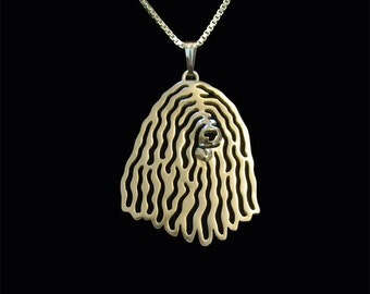 Komondor  - gold pendant and necklace.