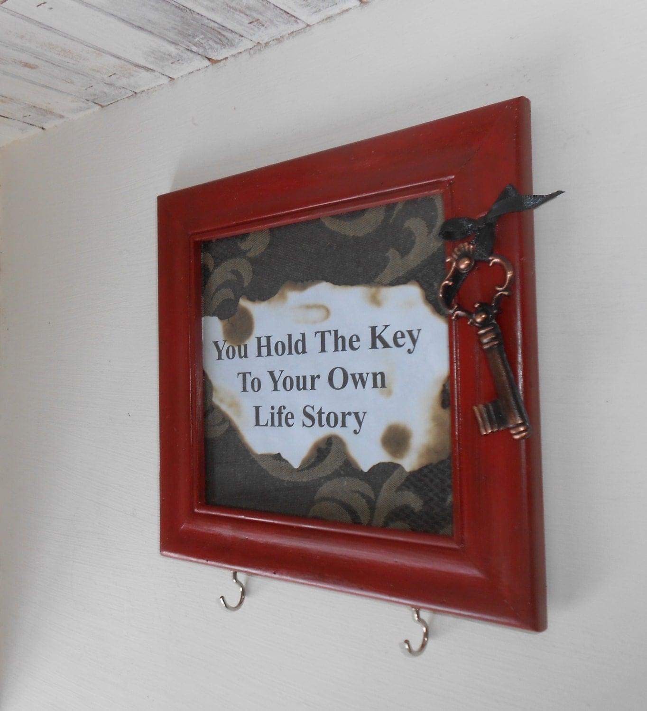 Key Rack Unique Keys Holder Red Key Holder Wall By Atticjoys1
