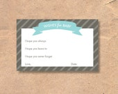 Printable Baby Shower Wis...