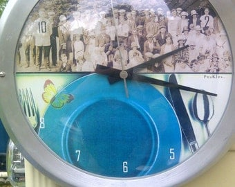 Vintage Retro art work clock..FREE shipping!!!