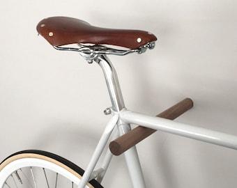 wooden bike hook // BLACK WALNUT