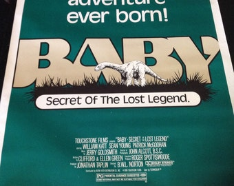 1985 Baby - Secret of the Lost Legend ( original theatre used poster )