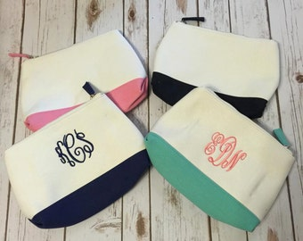 Canvas make-up bags
