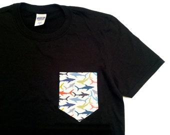 MAN'S .Shark PRINT T SHIRT(6-120)