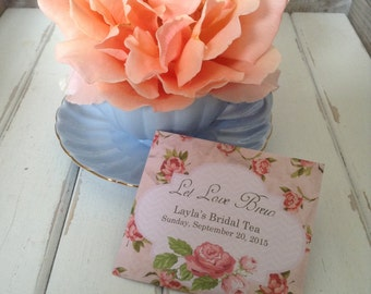 "Tea Favors Vintage ""A ROSY ROMANCE"" - ""Pretty Pink"" Tea Favors-: Customized High Tea Bridal Tea Wedding Favor"
