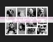 Baby Rattle, Teething Ring, Stuffed animal with Rattle, Stuffed Animal with Teething Ring, Baby Toy, Animal Rattle, Animal Teething Toy, Fun