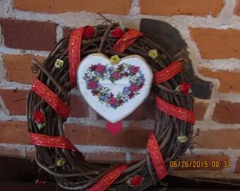 Valentine Grapevne Wreath