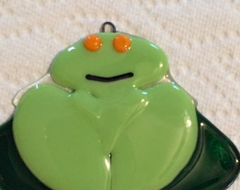 Fused Glass Frog Decoration