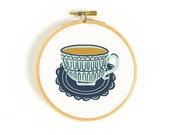 Cuppa Tea Art Hoop