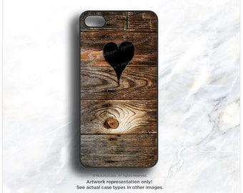 iPhone 7 Case Wood Heart iPhone 7 Plus iPhone 6s Case iPhone SE Case iPhone 6 Case iPhone 6s Plus iPhone iPhone 5S Case Galaxy S6 Case T18d