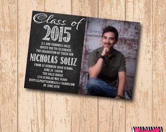 DIY Printable Picture Graduation Invite