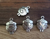 100pieces 20*13MM  sheep alloy Charm   -  antique silver charm pendant  Jewelry Findings