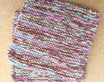 Hand Knit Pot Holders - Set of 2 Hotpads