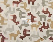"""100% Cotton Fabric By Ann Kelle For Robert Kaufman - Woodland Pals - 45"""" Width Sold By The Yard (FH-1591)"""