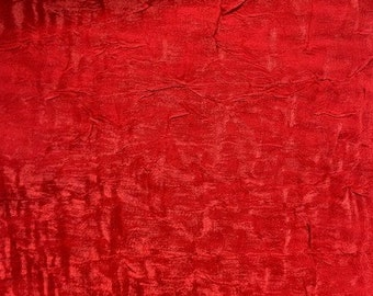 "Shimmer Crushed Satin Fabric - RED - 58"" Width Sold By The Yard"