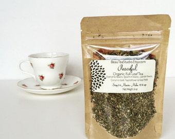 Organic Peaceful Loose Herbal Tea and Iced Tea