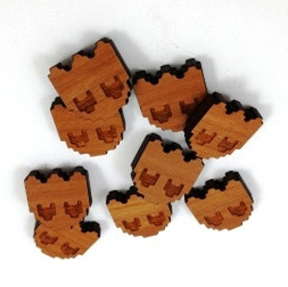 Laser Cut Supplies- 8 Pieces.Retro Ghosts Charms - Laser Cut Wood Ghosts -Earring Supplies-Laser Lab Sustainable Wood Products