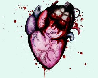 Grenade Heart Fine Art Print