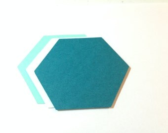 50 Die Cut Hexagons/Shapes/Tags/Labels