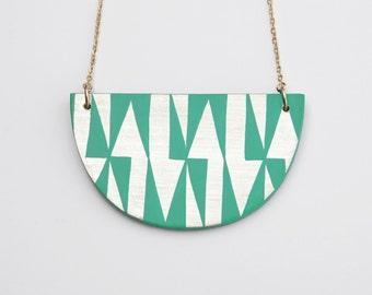 AZTEC Necklace Pastel Turquoise