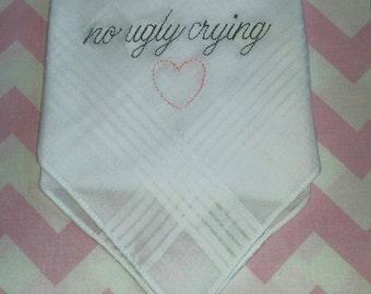 6 pack of Wedding Handkerchiefs