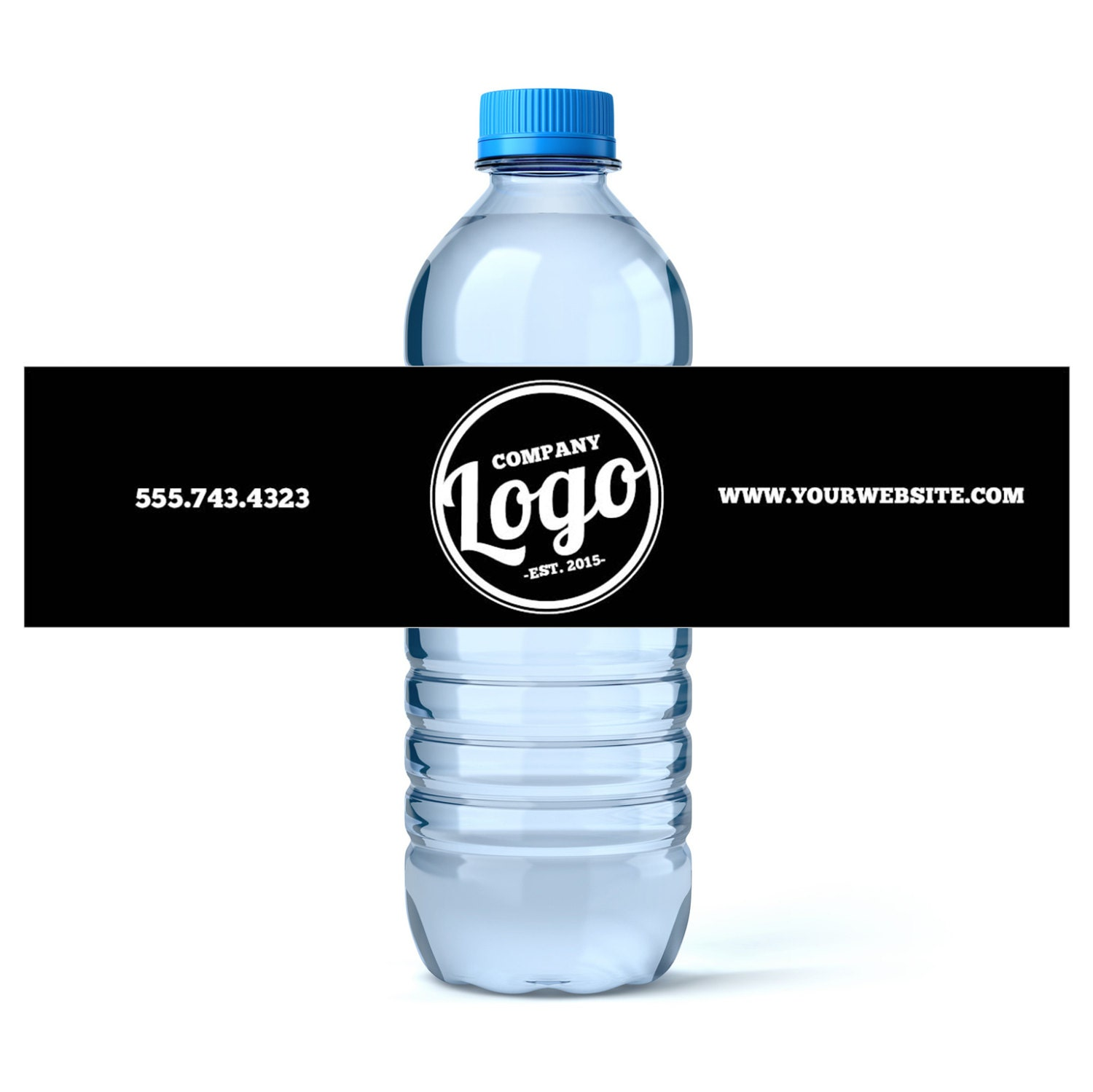custom water bottle labels your business logo or design With custom water bottle labels for business