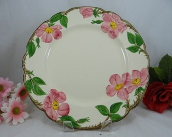 """Vintage 1950s to 1960s  Francsican Ware """"Desert Rose Dinner Plate - Made in USA - 8 Available"""