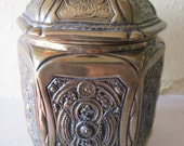 Brass lidded container