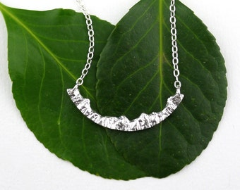Silver Mountain Necklace Silver Nature Necklace Adventure Necklace Travel Necklace Nature Jewelry