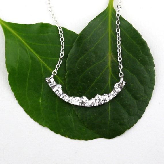silver mountain necklace nature jewelry silver by. Black Bedroom Furniture Sets. Home Design Ideas
